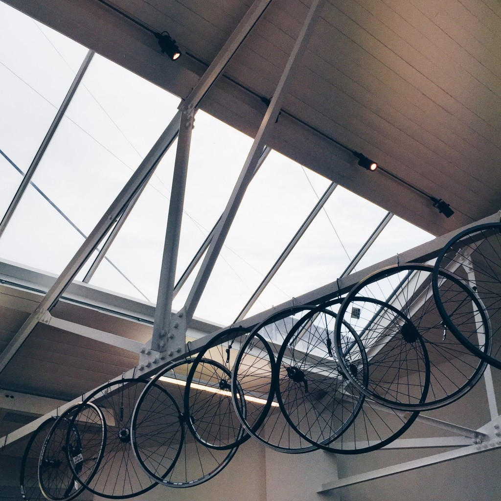 cycle wheels in building