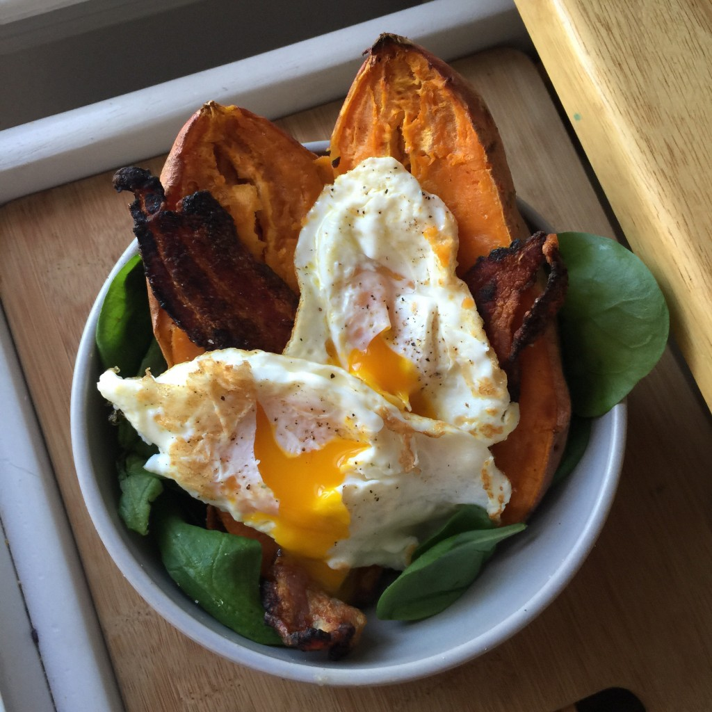 eggs and sweet potatoe