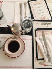 dinner table setting coffee