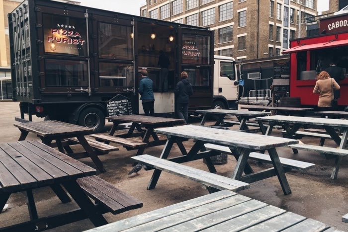 food truck outside london