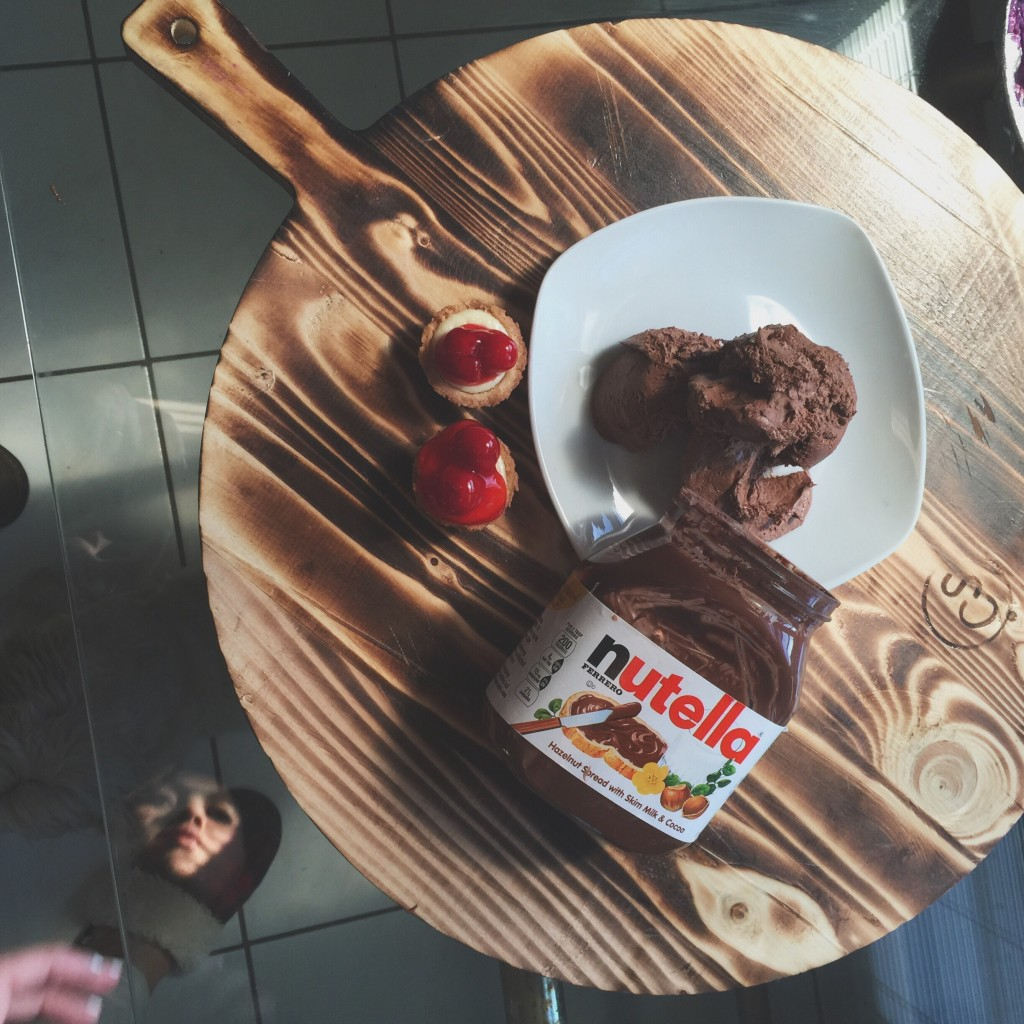nutella dessert on table