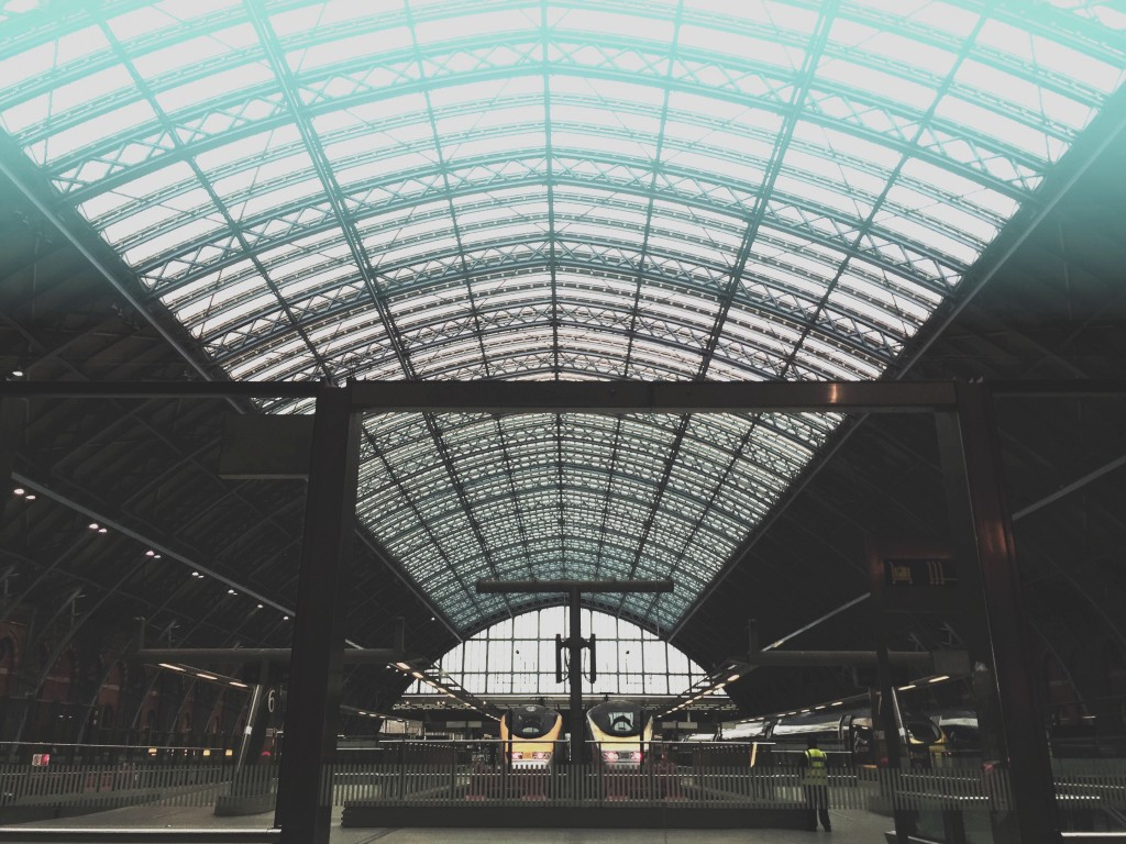 skylights at train station