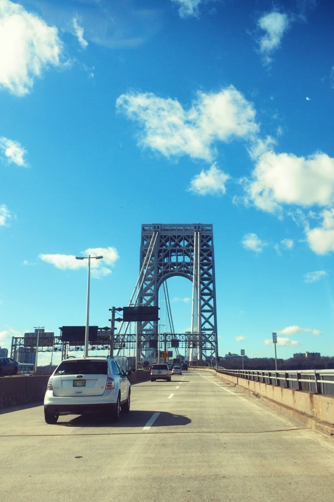 george washington bridge sunny