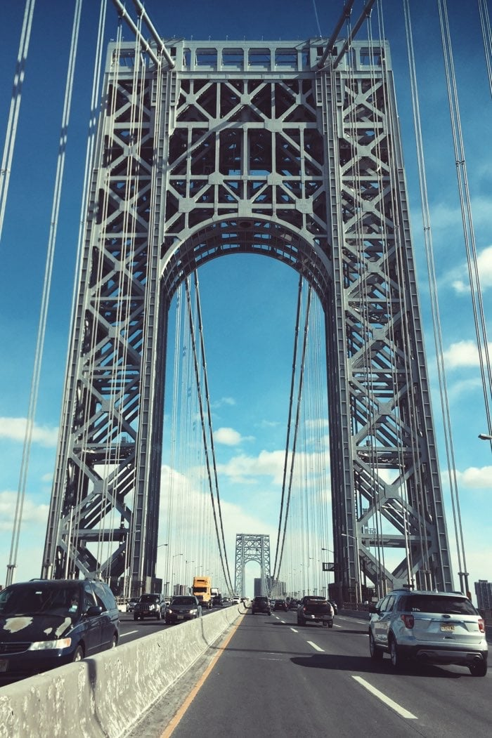 NYC bridge clear day tall