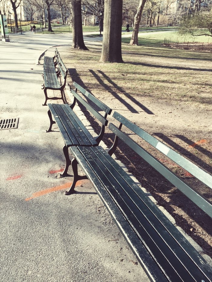 benches in park nyc