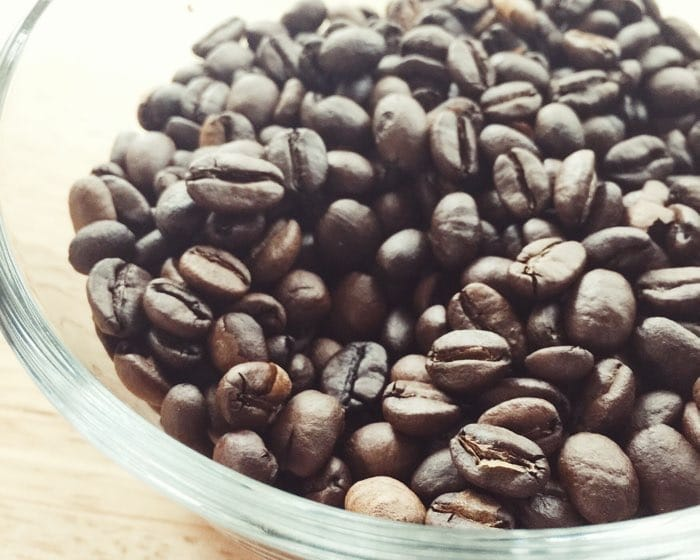 bowl coffee beans