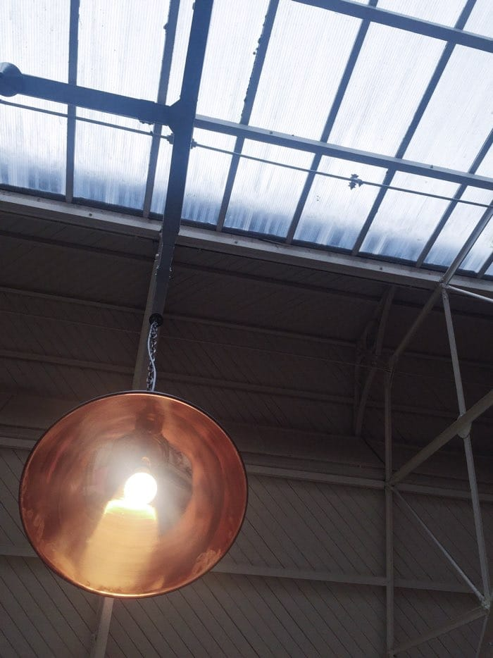 copper light with skylight cloudy day