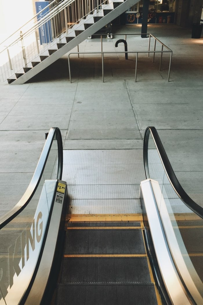 escalator outside