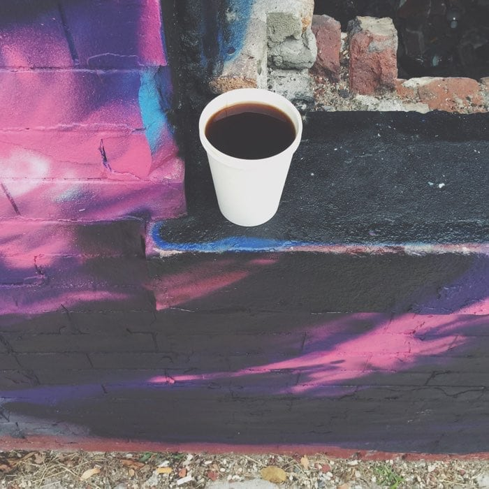 coffee on a wall
