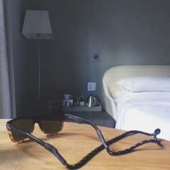 hotel and glasses