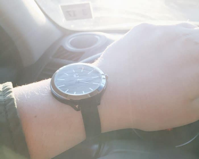watch on wrist in the sun