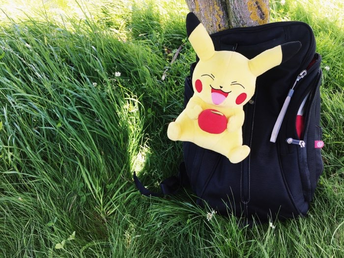 pikachu backpack grass wide