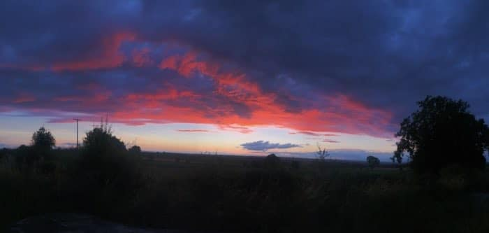 purple and red sunset