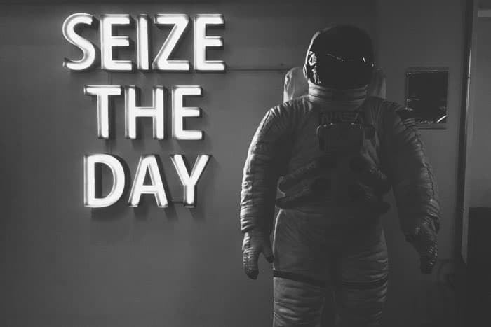 seize the day nasa space man