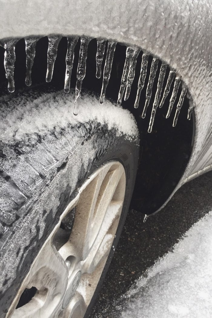 frozen wheel