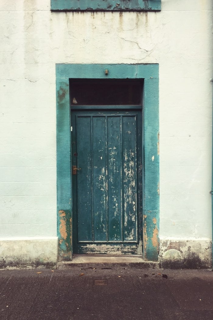 old blue door