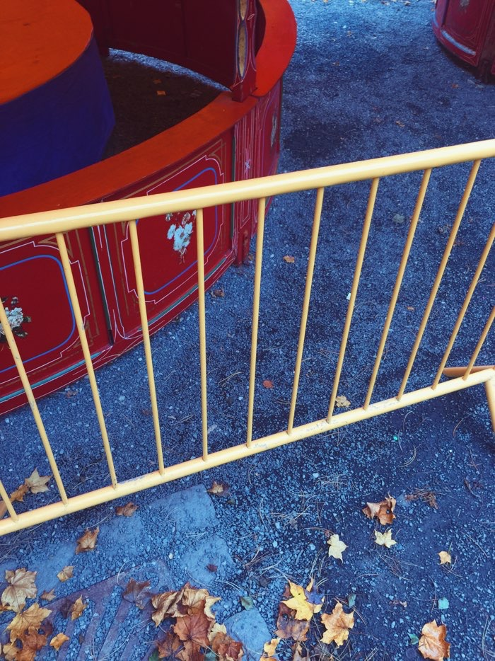 yellow railing at carnival