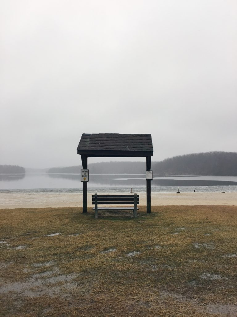bench near beach