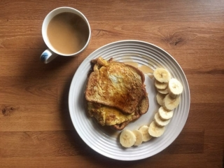 french toast breakfast and coffee