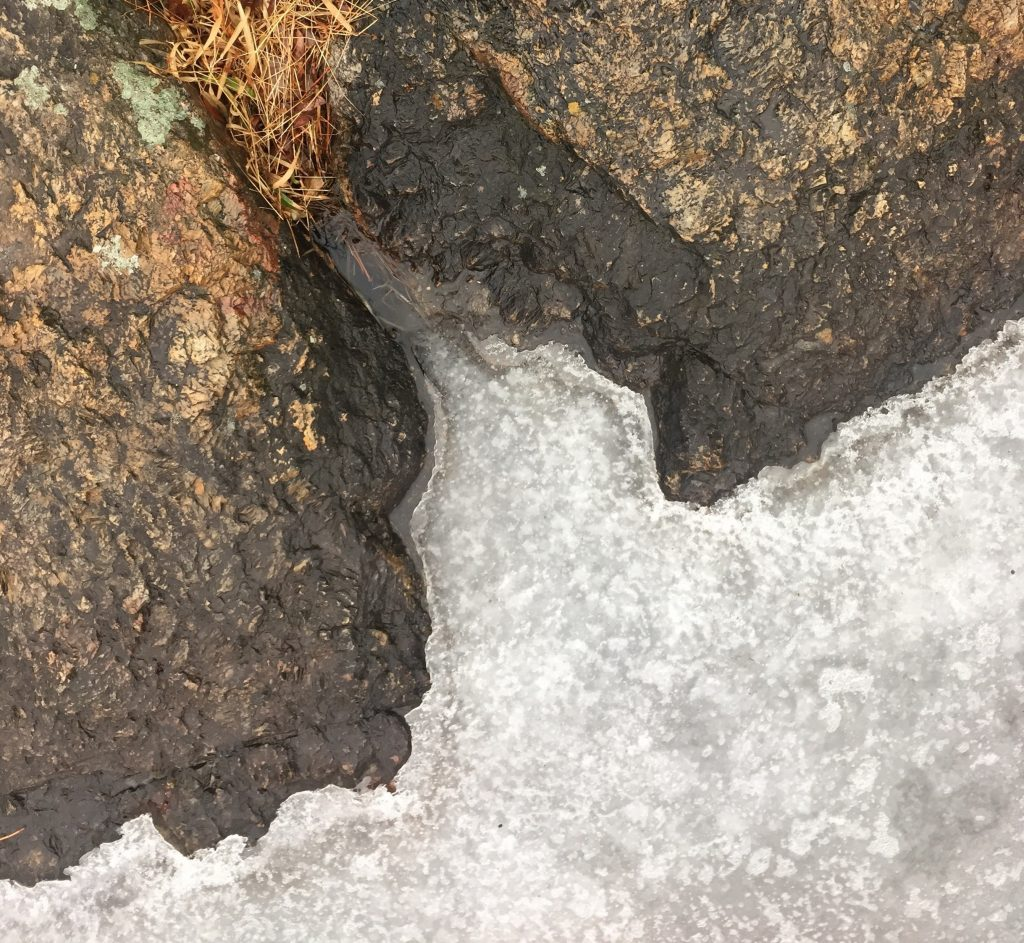 ice near rocks