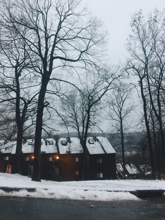 winter apartments in mountains tall